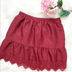 Madewell Burgundy Skirt S